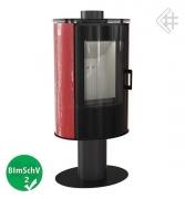 Свободностоящая печь-камин Kratki Koza AB S/N/O Glass Kafel (красный)