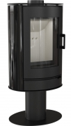 Свободностоящая печь-камин Kratki Koza AB S/N/O Glass Kafel (черный)